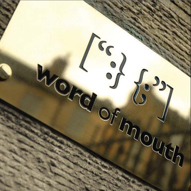 Word of mouth plaque